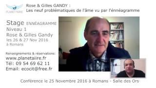 Annonce - Les 9 problèmatiques vu par l'ENNEAGRAMME par Rose & Gilles Gandy