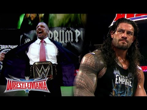 Thumbnail: The Road to WrestleMania: WWE World Heavyweight Champion Triple H vs. Roman Reigns