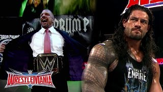 the road to wrestlemania wwe world heavyweight champion triple h vs roman reigns