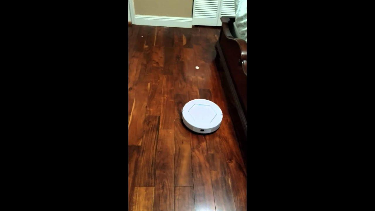 Rollitech Tech Rollibot Robotic Vacuum Hard Wood Floors Youtube