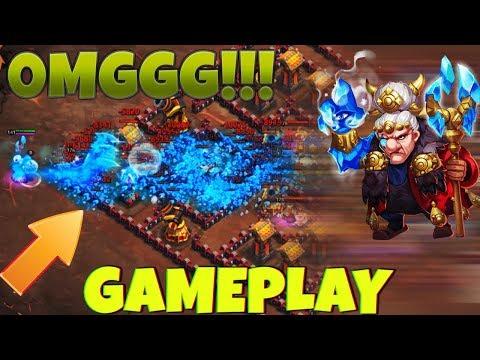 New Hero FROST WIZARD | FULL GAMEPLAY | CRAZY RANGE | CASTLE CLASH