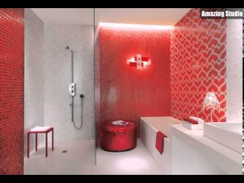 Rot Weiss Herz Mosaik Fliesen Badezimmer Youtube