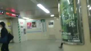 阪急 神戸三ノ宮駅の自動改札機を通過する風景  Scenery via the automatic ticket gate of Hankyu Kobe Sannomiya Station