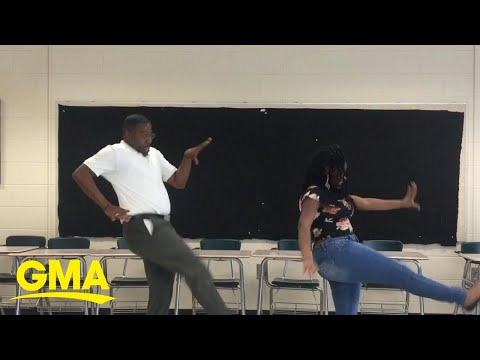 Willie Moore Jr. - Teacher honors deal with 8th grader to perform dance if she aced an exam