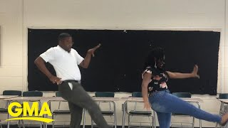 Teacher honors deal with 8th grader to perform dance if she aced an exam