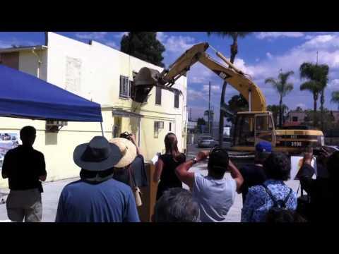 Lemon Grove Trolley Plaza demolition ceremony