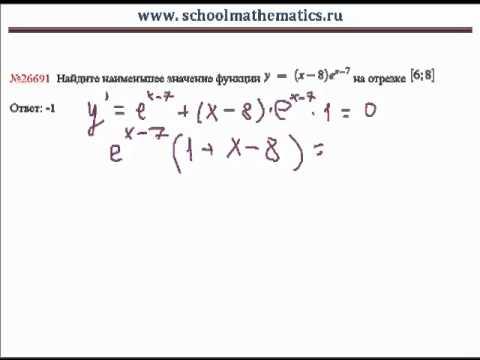 Видео решение задания В14 (№26691) с производной