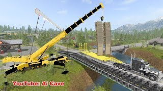 "How to Build a Bridge in ""Farming Simulator 2017"" with mods."