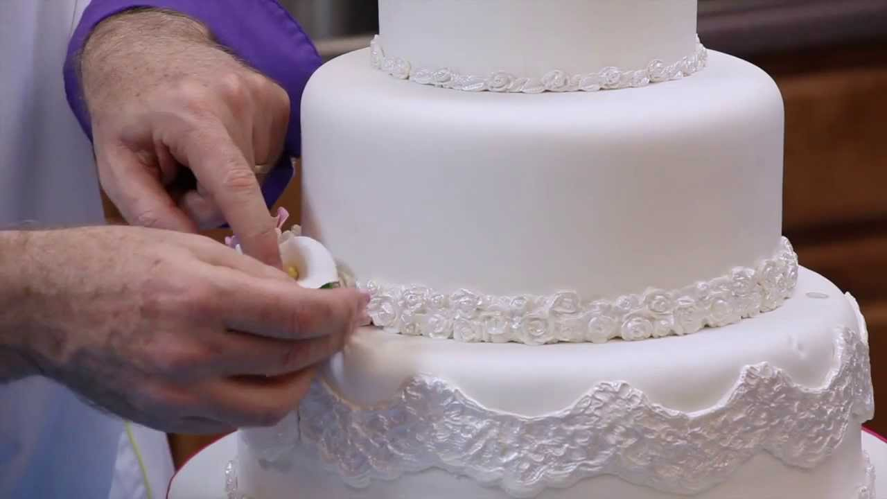 How To Make Your Own Fondant Wedding Cake Part 2 Global Sugar Art You