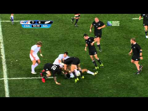 2011 Rugby World Cup final New Zealand v France 2nd half
