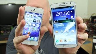 smartphones smackdown apple iphone 5 vs samsung galaxy note 2