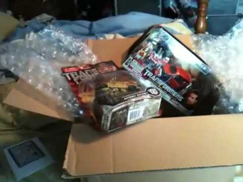 Transformers unboxing package from big bad toy store - YouTube
