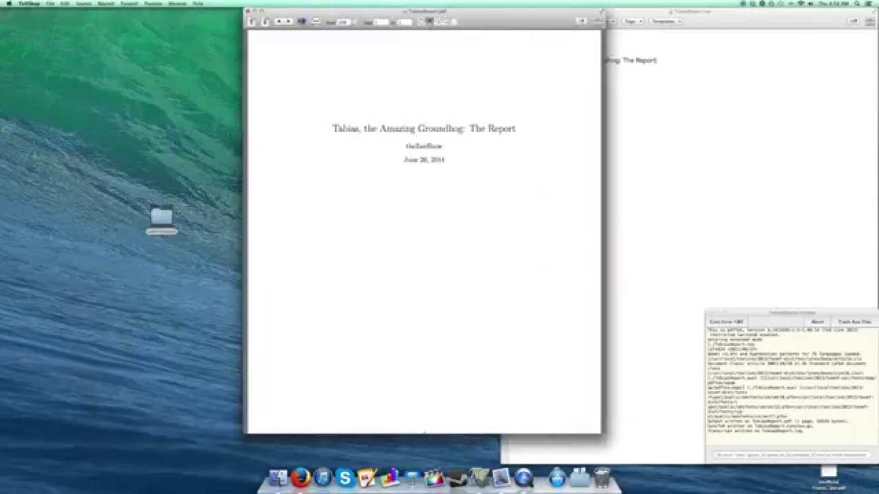 latex tutorial 1 of 11 starting a report and title page