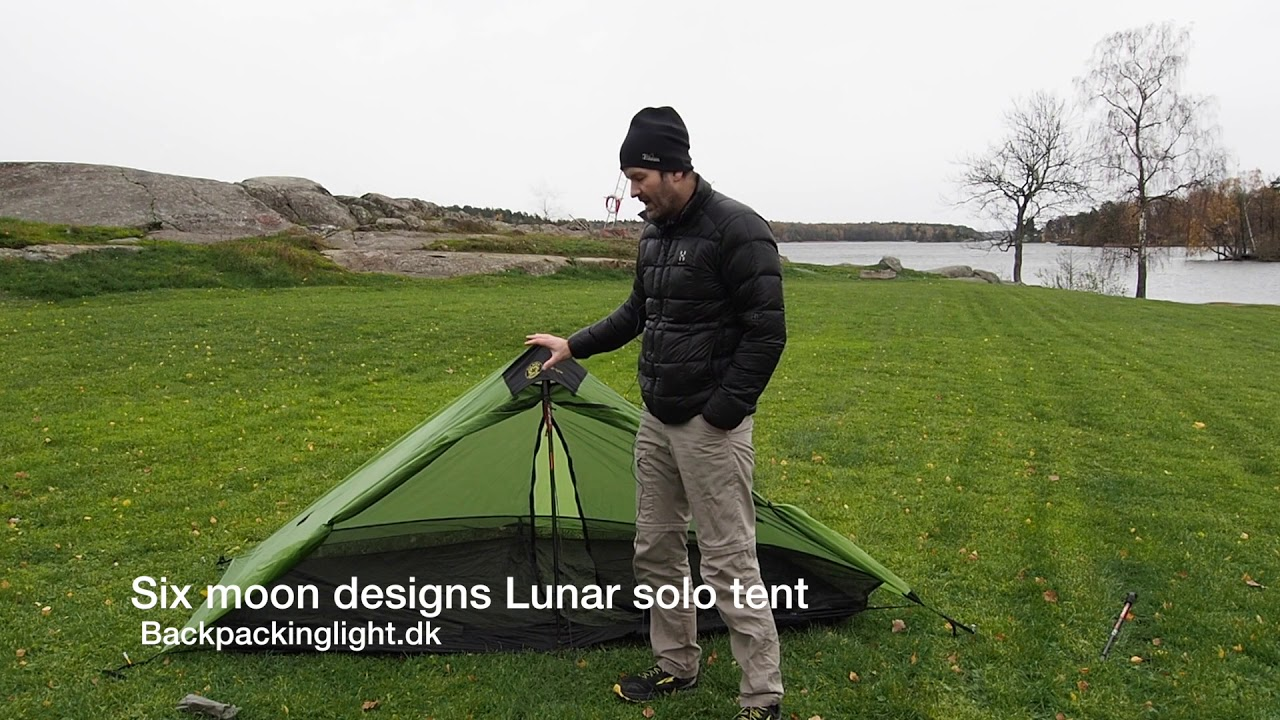 Six moon designs Lunar Solo ultralight tent & Six moon designs Lunar Solo ultralight tent - YouTube