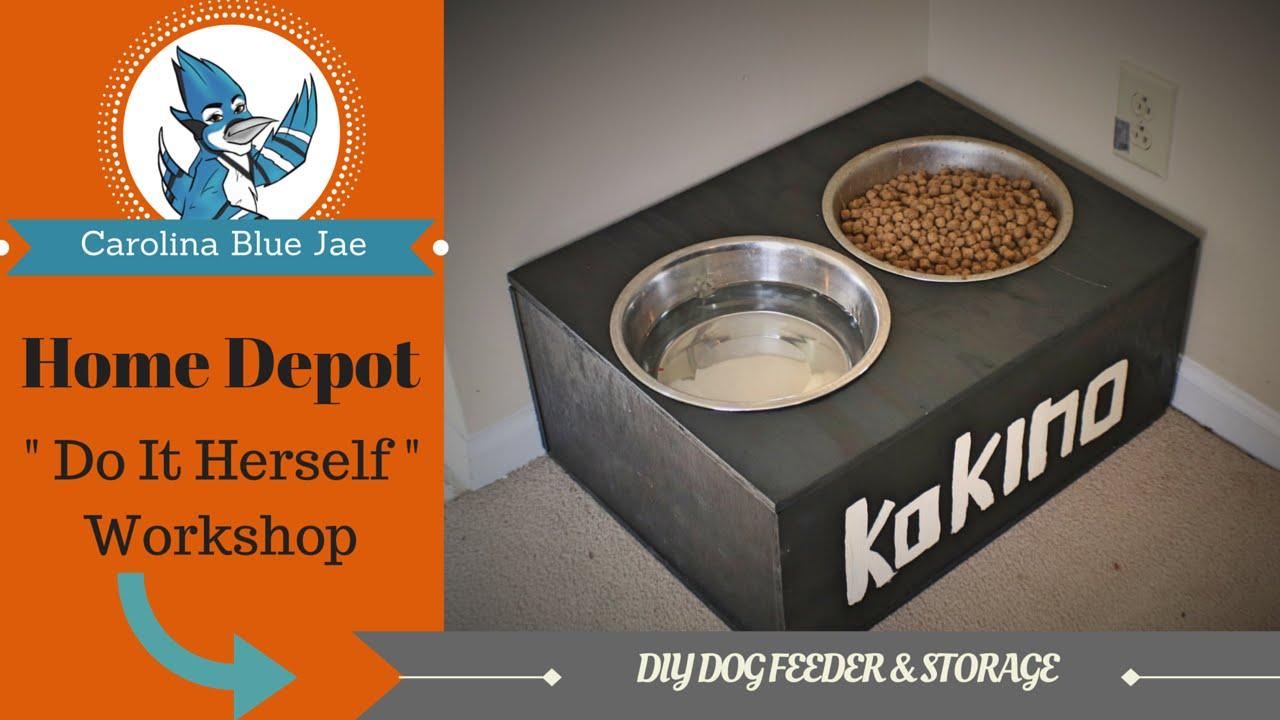 Diy 8 Home Depot Do It Herself Dog Feeder Storage
