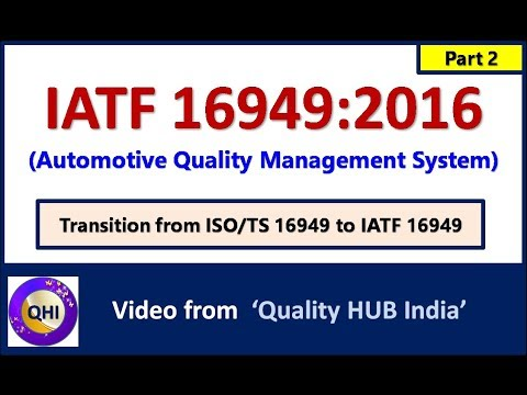 Iatf 16949 2016 Automotive Quality Management System