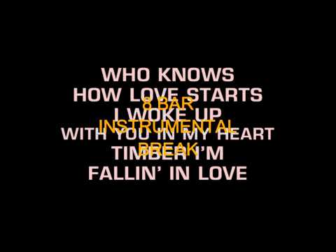 Patty Loveless - Timber I'm Falling In Love (Karaoke)