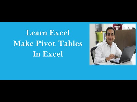 Make Pivot Table In Excel for Beginners