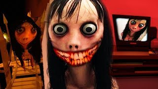 HIDE AND SEEK WITH MOMO..DONT LET HER FIND YOU!    MOMO 2 Creepypasta Horror Game