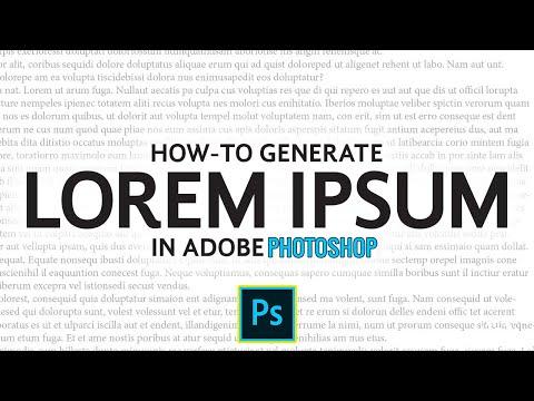 How-To Generate Lorem Ipsum Text In Adobe Photoshop | Photoshop Tutorial thumbnail