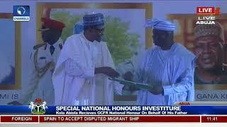 Late MKO Abiola's Son, Kola Recieves GCFR Nat'l Award From Pres Buhari