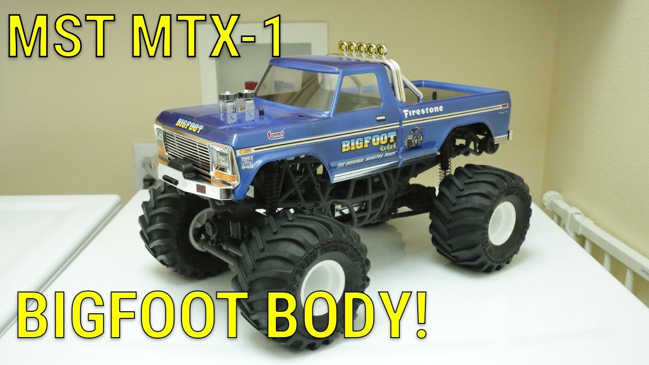 Traxxas Clear Bigfoot Body Vehicle