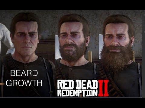 How long does Arthurs Beard grow in Red Dead Redemption 2