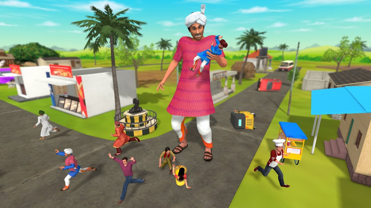 Download विशाल गांव आदमी Giant Man Village Comedy Story - Hindi Kahaniya Stories - Hindi Comedy Video