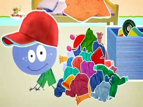BabyTV Stick with Mick Mick cleans up his room english