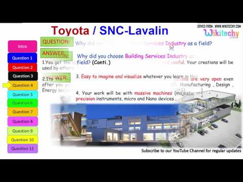 jobs | Toyota | SNC Lavalin interview questions and answers for freshers / experienced