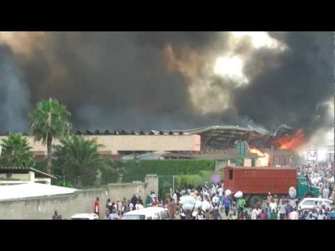 Burundi - Main Market on Fire.
