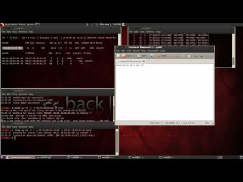 How to hack WEP then hack clients related to its network - Part1
