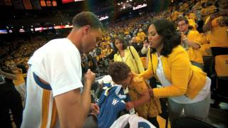 Stephen Curry Gets Pumped Up Pregame with Daughter Riley