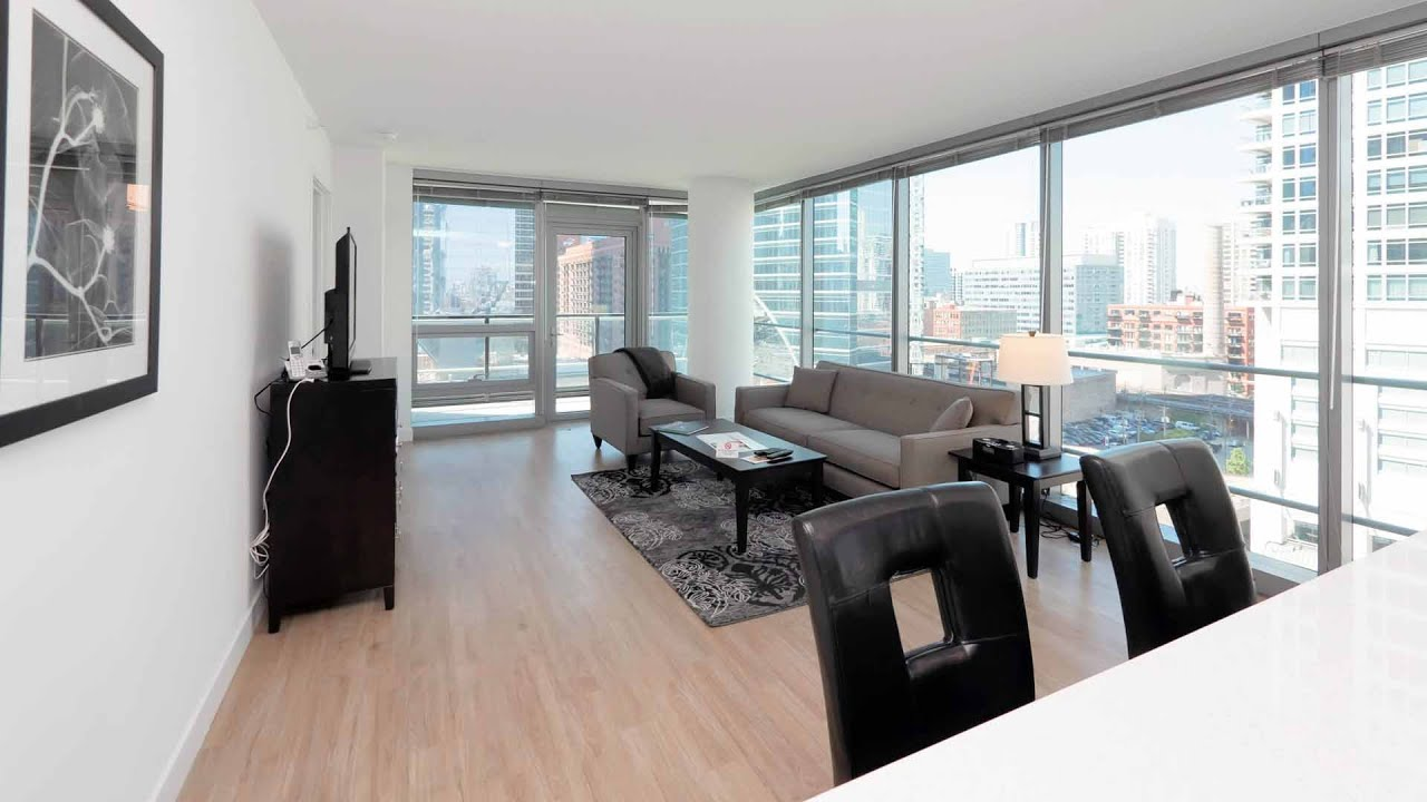 Tour a suite home chicago 2 bedroom at the new wolf point west youtube for Two bedroom suites in chicago