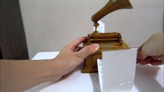 Wooden Paper Diy Music Box Happy Birthday