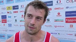 Zdeněk Stromšík po 100 m na MČR 2018