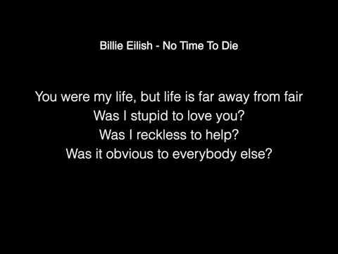 Billie Eilish - No Time To Die Lyrics  (Live From The BRIT Awards London)