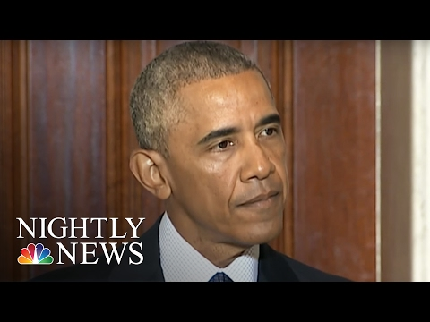 Get Angry President Obama Tears Into Donald Trump Like Never Before | NBC Nightly News Screenshots