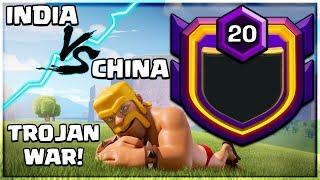 INDIA Vs CHINA TROJAN WAR LIVE CLASH OF CLANS•FUTURE T18