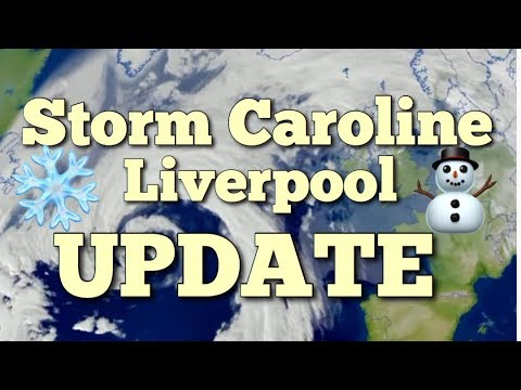 Storm Caroline in Liverpool Update - The Snow has ARRIVED