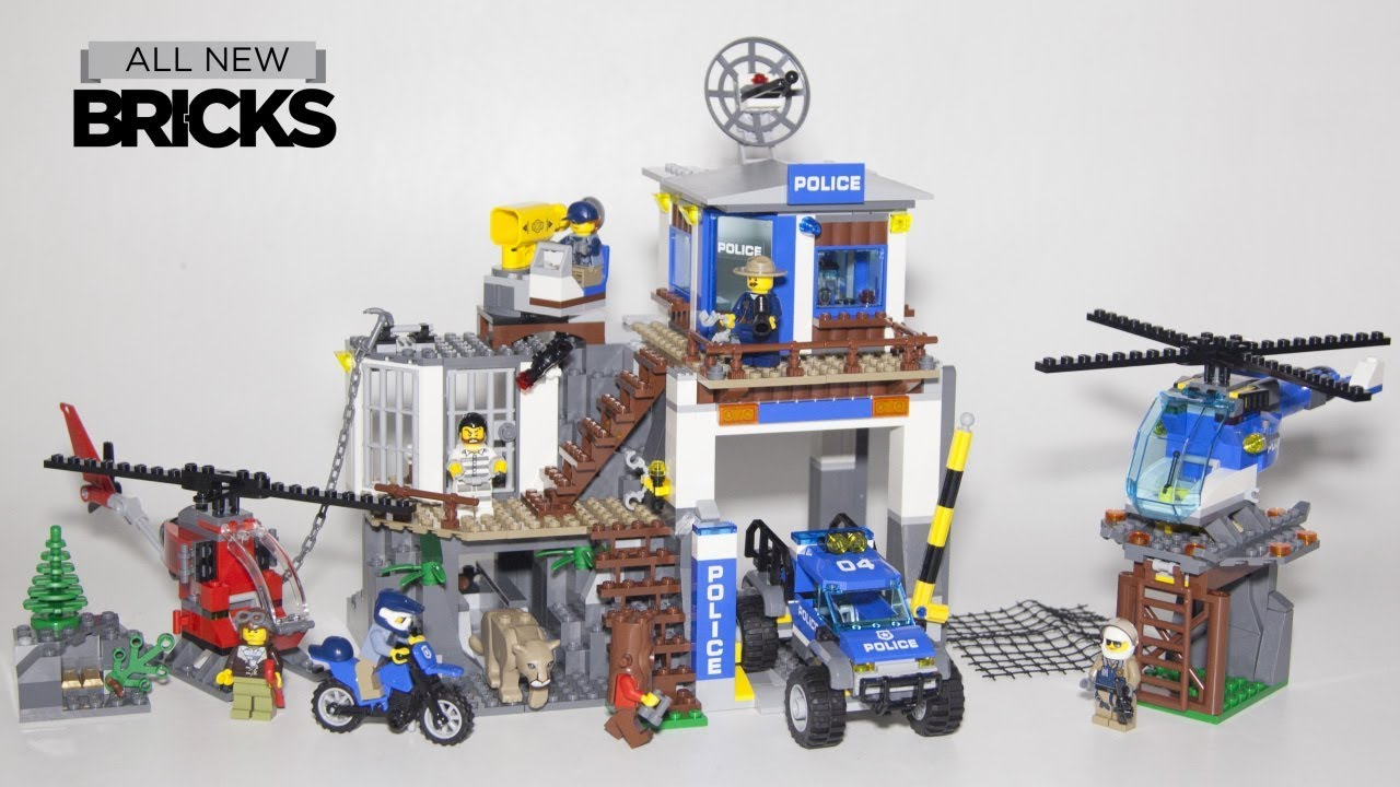 Lego City 60174 Mountain Police Headquarters Speed Build Youtube