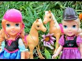 Anna and Elsa Toddlers Pony Horse Riding Trail Frozen Elsa and Anna's children kidnapped by Ursula