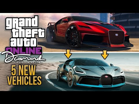 GTA Online Diamond Casino Update - THE 5 NEW SUPER & SPORTS CARS! Real Life Matches & More