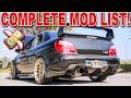 2004 SUBARU WRX STI Complete MOD List Overview 5 Year Ownership mp3