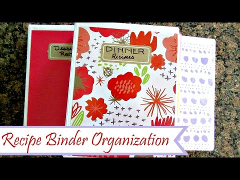 How To: DIY Recipe Binder | Recipe Organization