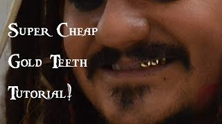 How to make gold teeth for cosplay | Super cheap