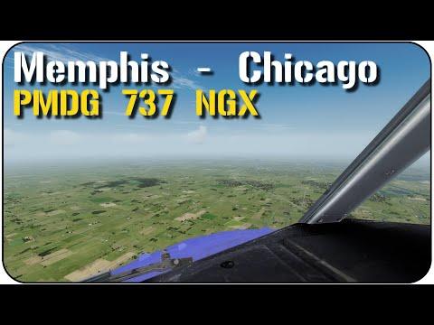 P3D v3.3: RNAV Into Chicago via Memphis | Southwest Airlines | PMDG NGX