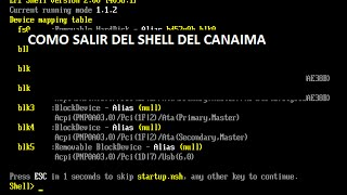 Salir del EFI shell 2.31 canaima, arreglar instalar Windows y drivers canaima