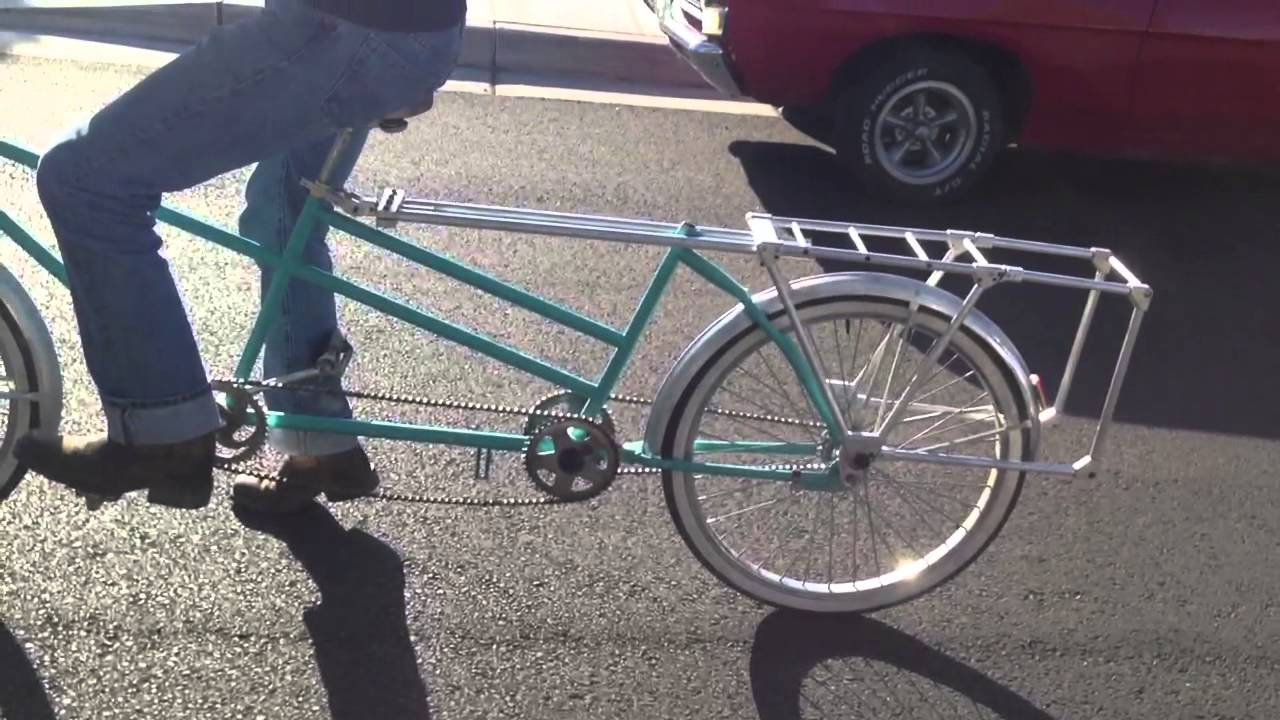 Tandem becomes instant cargo bike youtube for 4 box auto in tandem