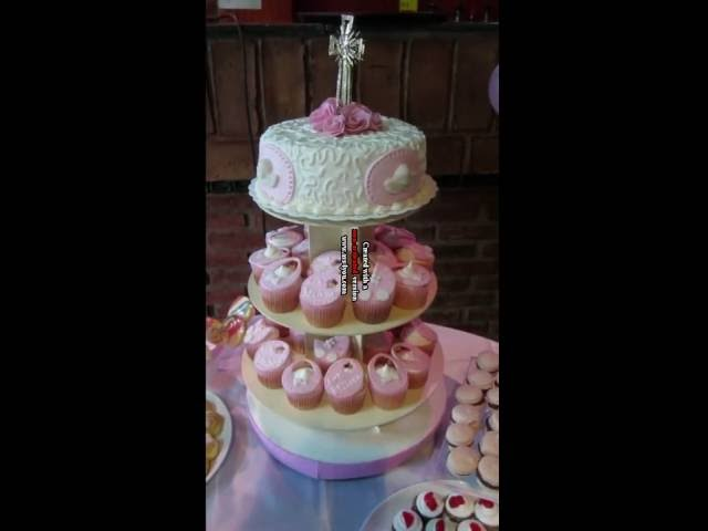 Torta de Bautismo con mesa dulce para BELINDA